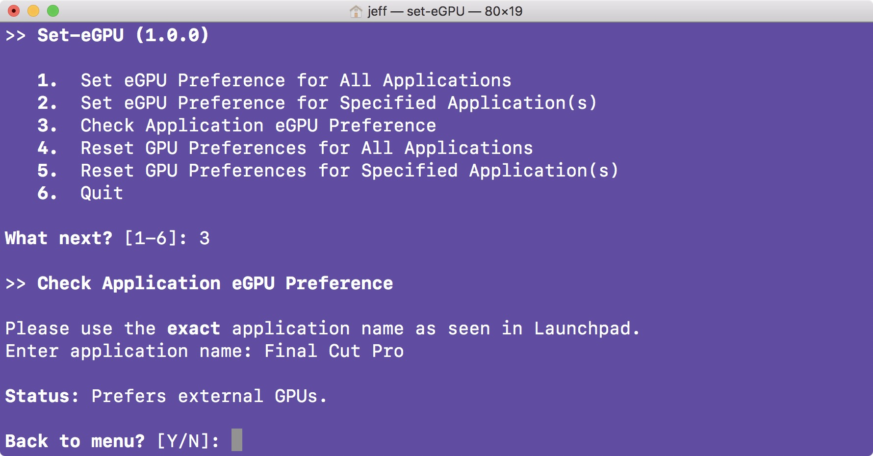 How to accelerate apps with an eGPU on your Mac's internal display