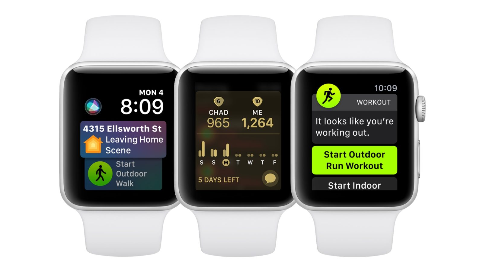 watchOS 5: Competitions, Workout detection and Siri face