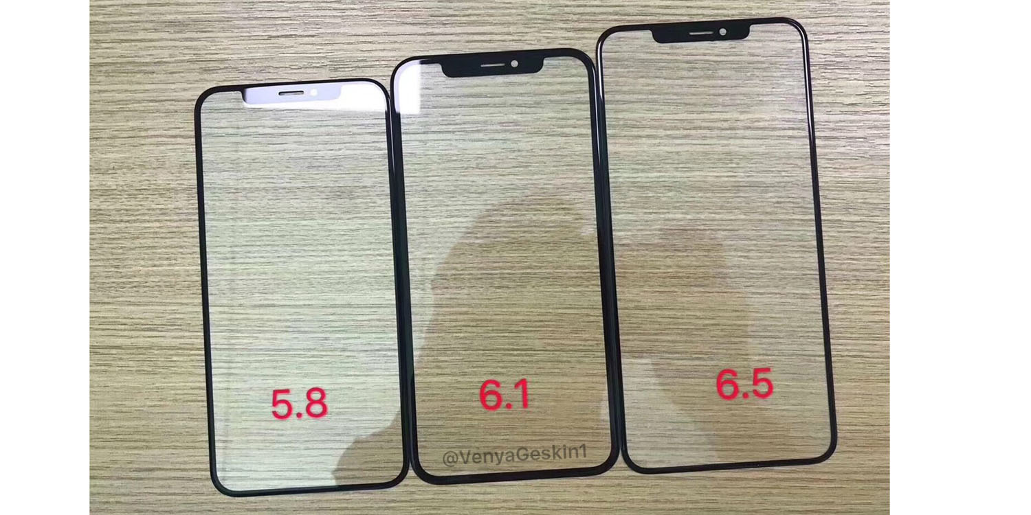 2018 iphone glass panels make their first appearance