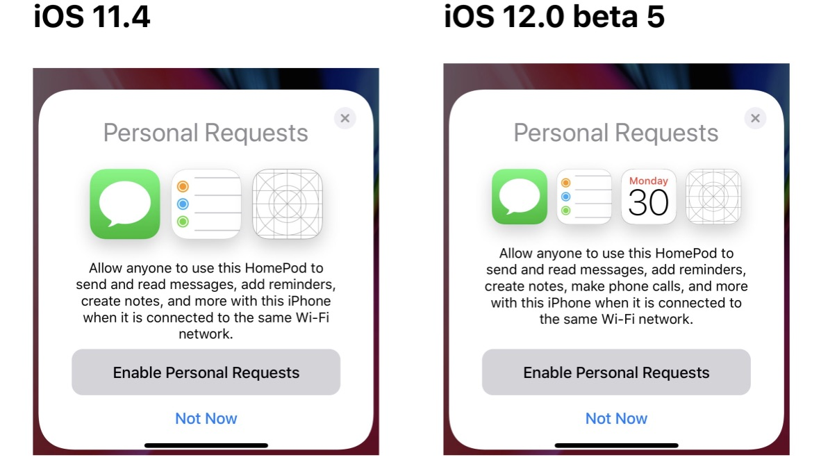 ios 12 beta 5 confirms homepod will add support for making phone rh 9to5mac com