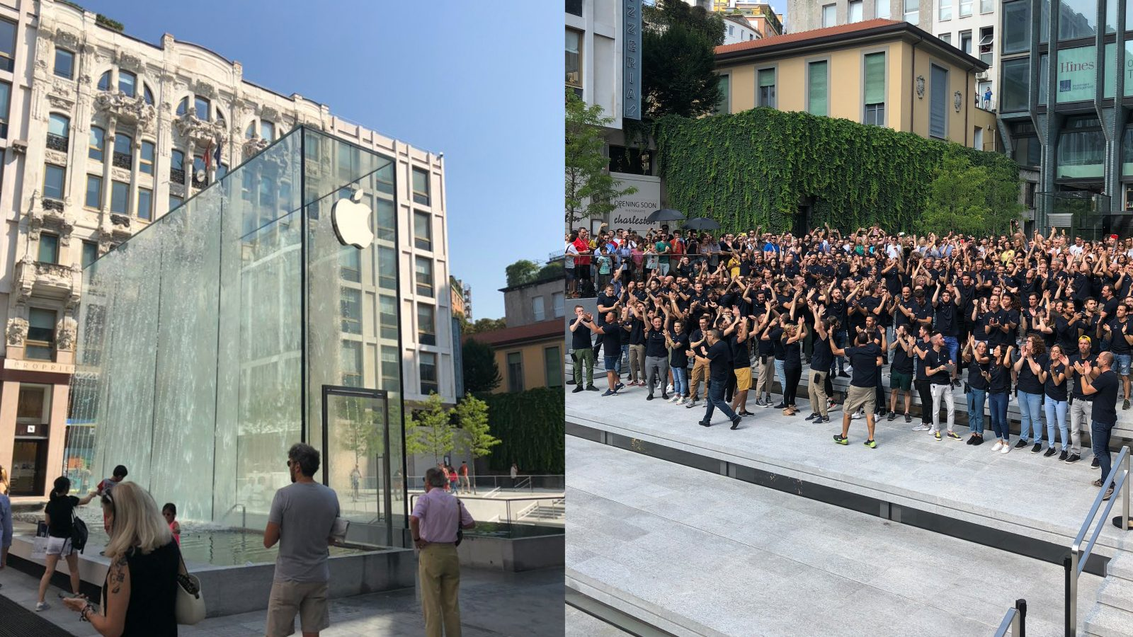Photos Apple Celebrates Grand Opening Of Piazza Liberty Store In Milan Italy