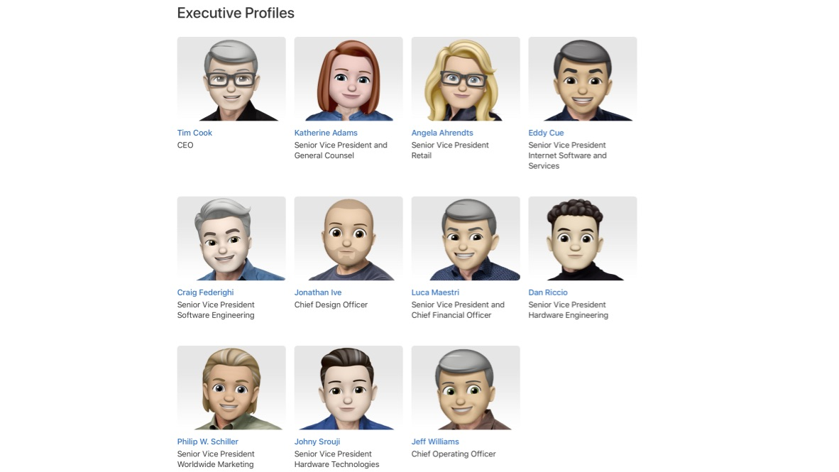 Apple gives its leadership site a Memoji overhaul in celebration of World Emoji Day