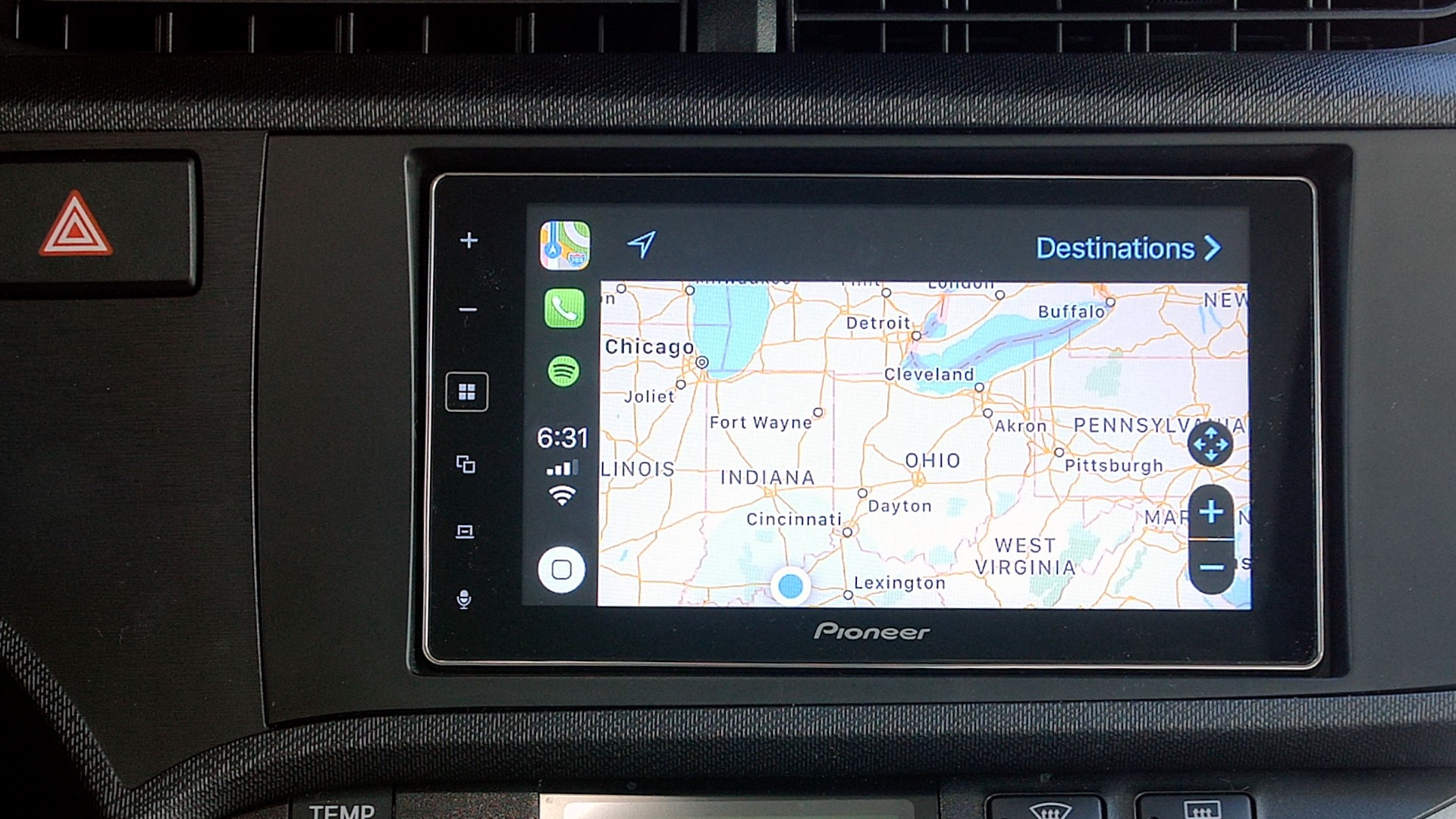 Hands-on: Pioneer MVH-1400NEX offers affordable CarPlay in a simple