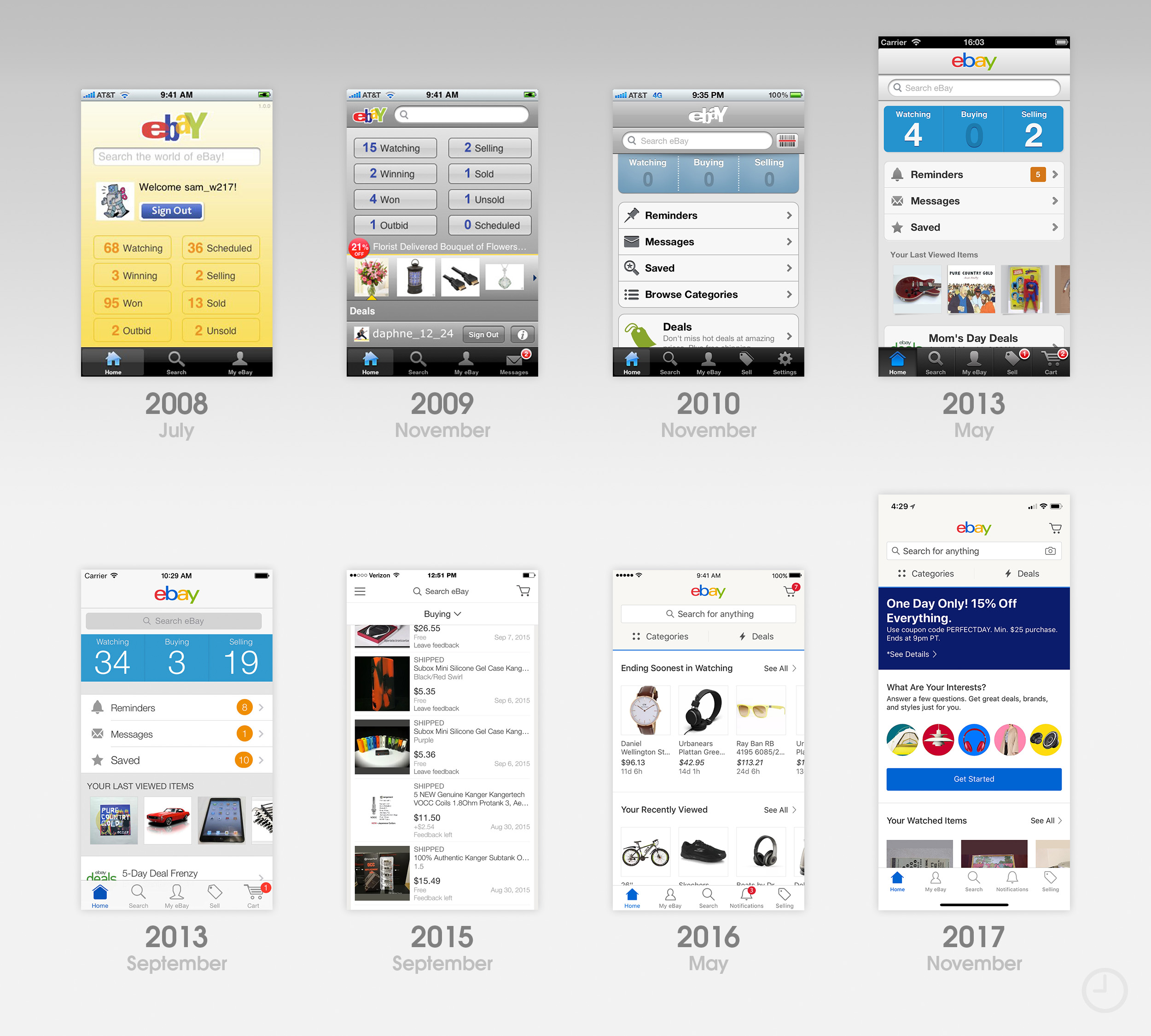 10 years of the App Store: The design evolution of the earliest apps