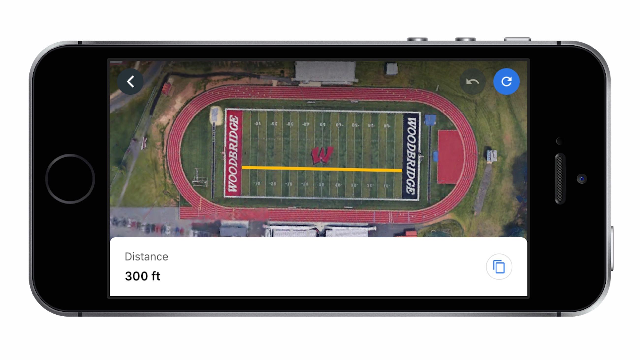 google earth ios measure distance