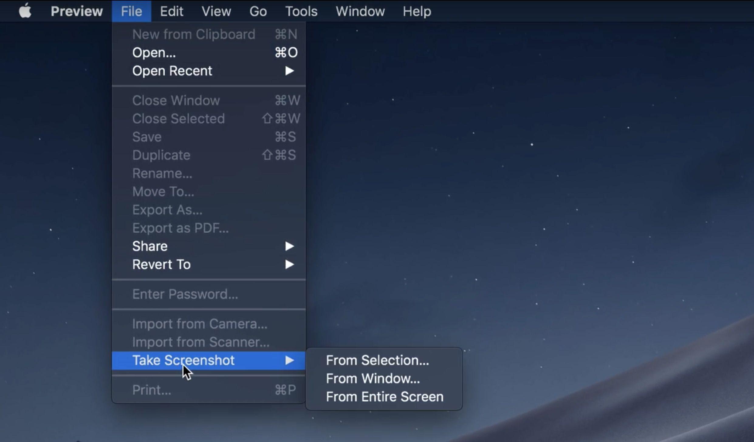 Screenshot tool mac mojave
