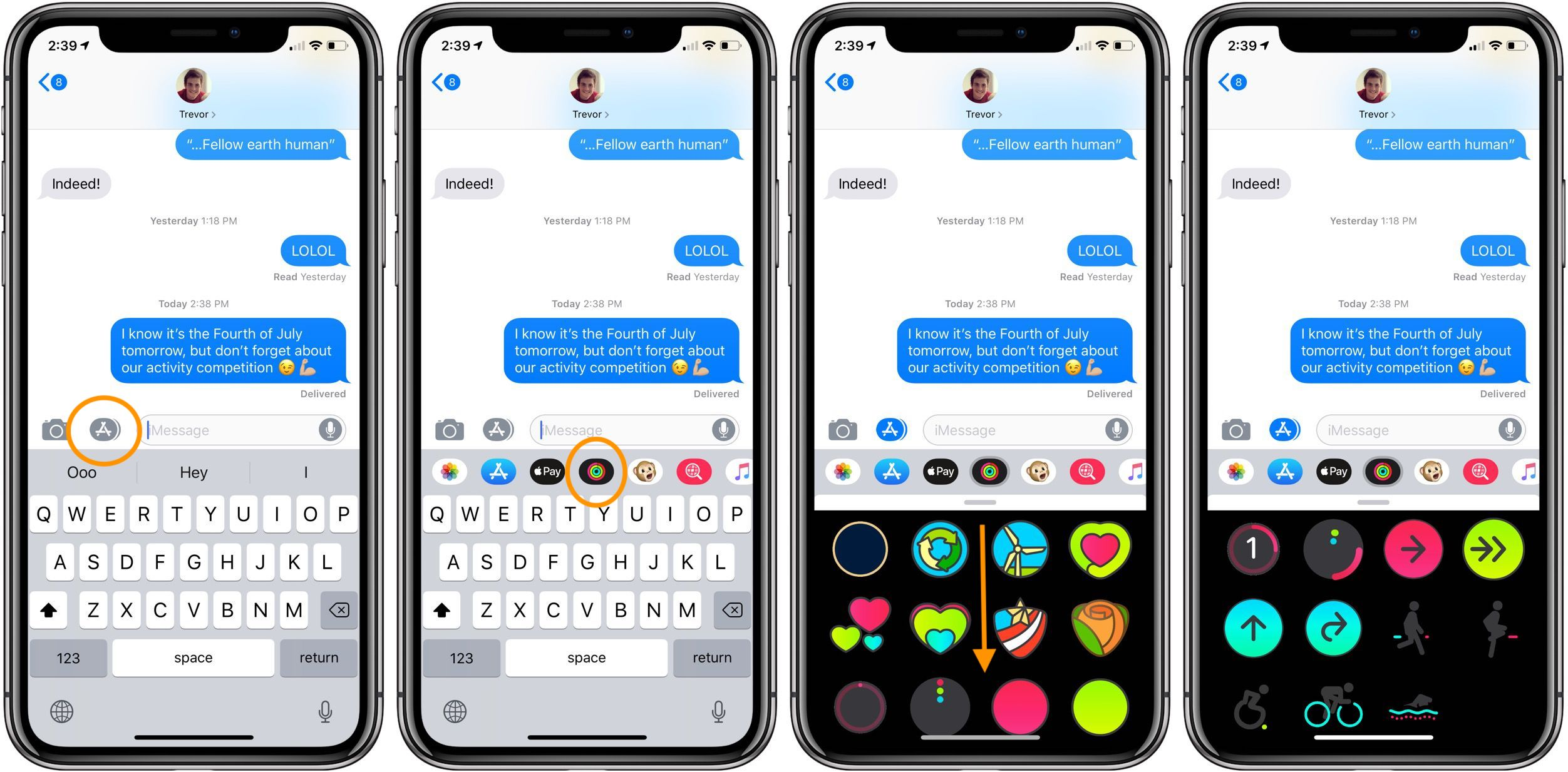 iphone messaging app ios 12 how to use the animated activity app stickers in 12035