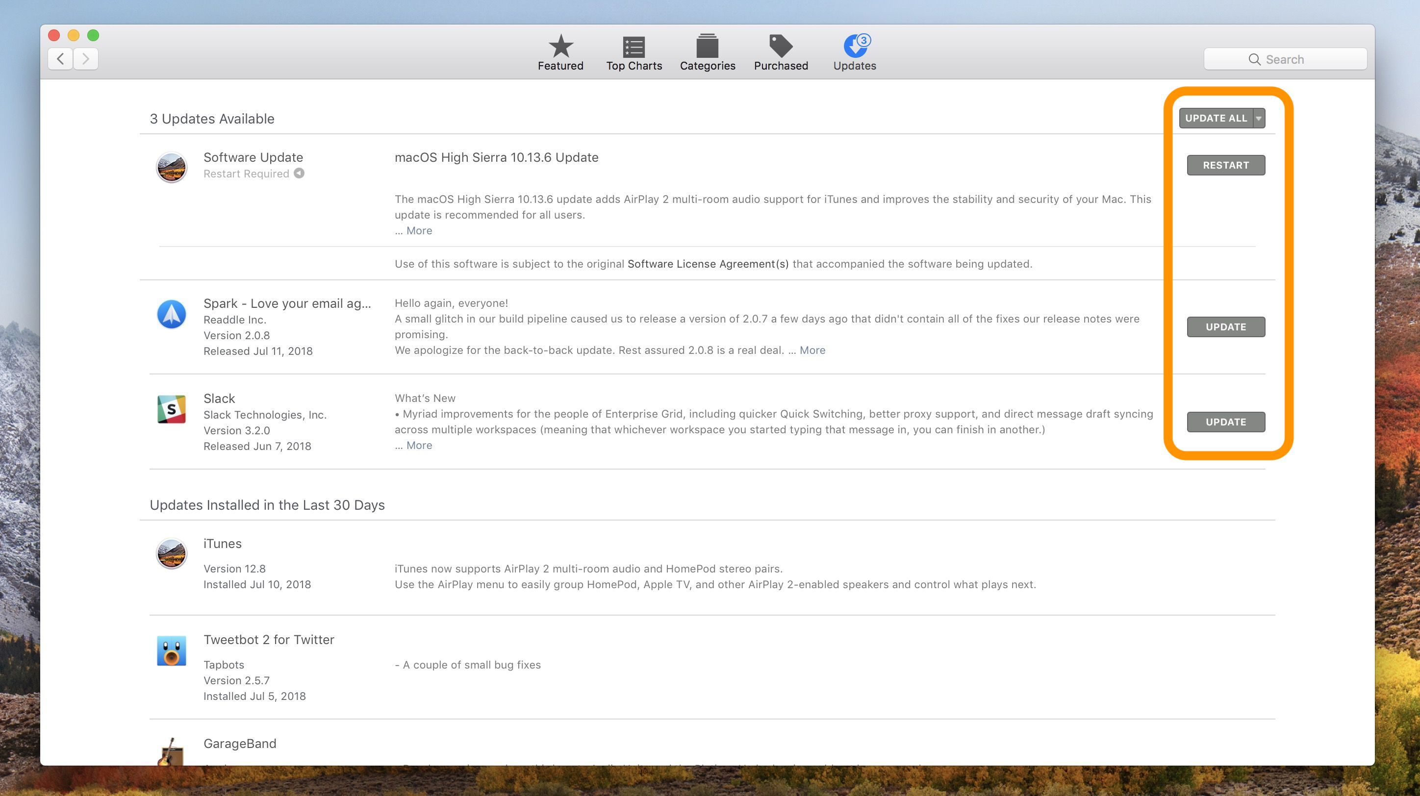 how do you find software updates on mac