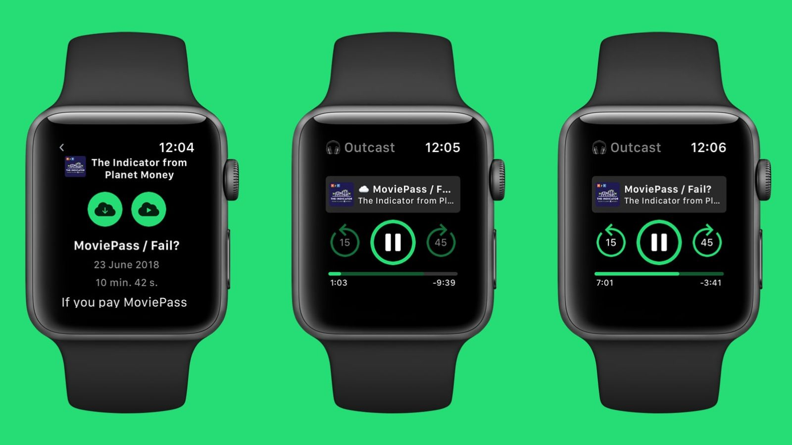 Outcast 2 adds podcast streaming and continuous playback playlists to Apple Watch