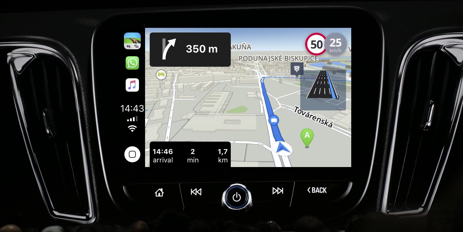 offline maps app sygic teases ios 12 carplay integration. Black Bedroom Furniture Sets. Home Design Ideas