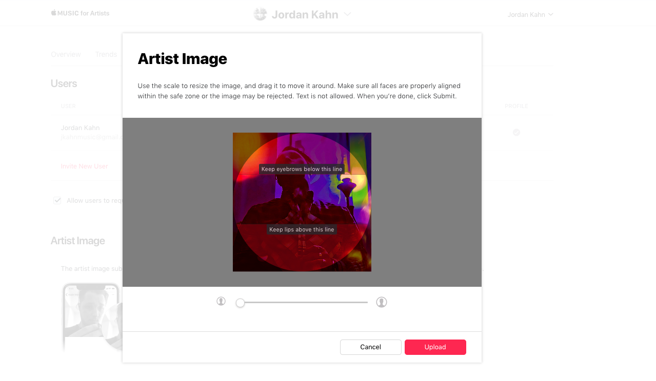 How to: Change your Artist Image with Apple Music for