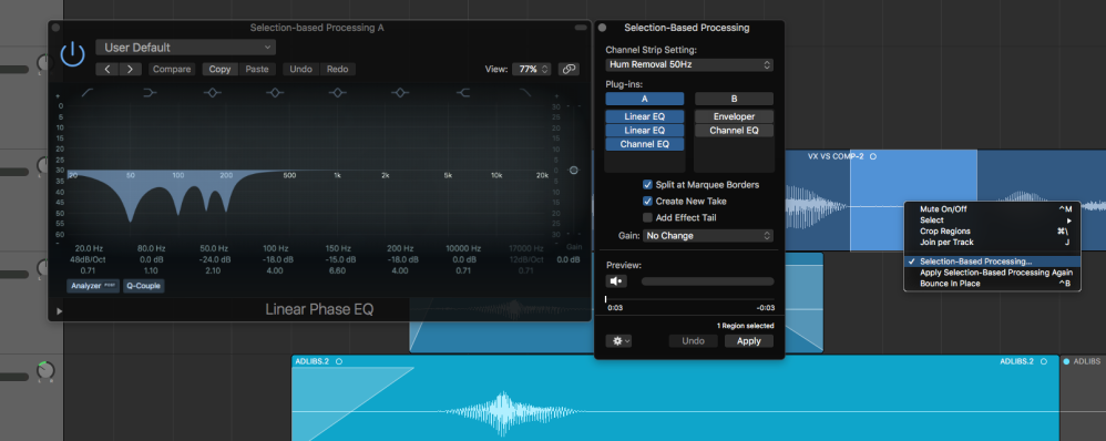 Logic Pros: Using Selection-Based Processing for easy audio repairs