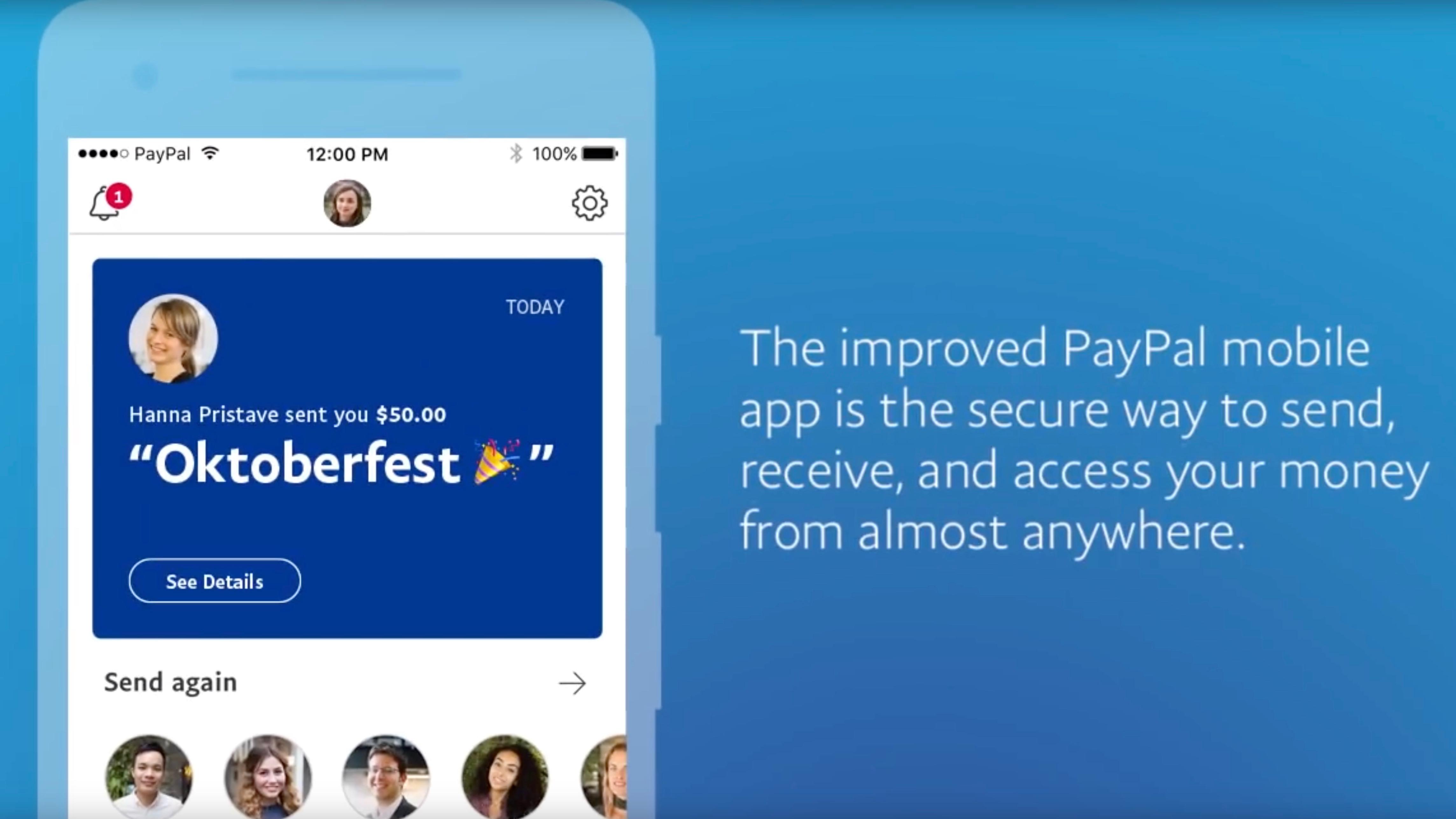 Mobile app strip for money
