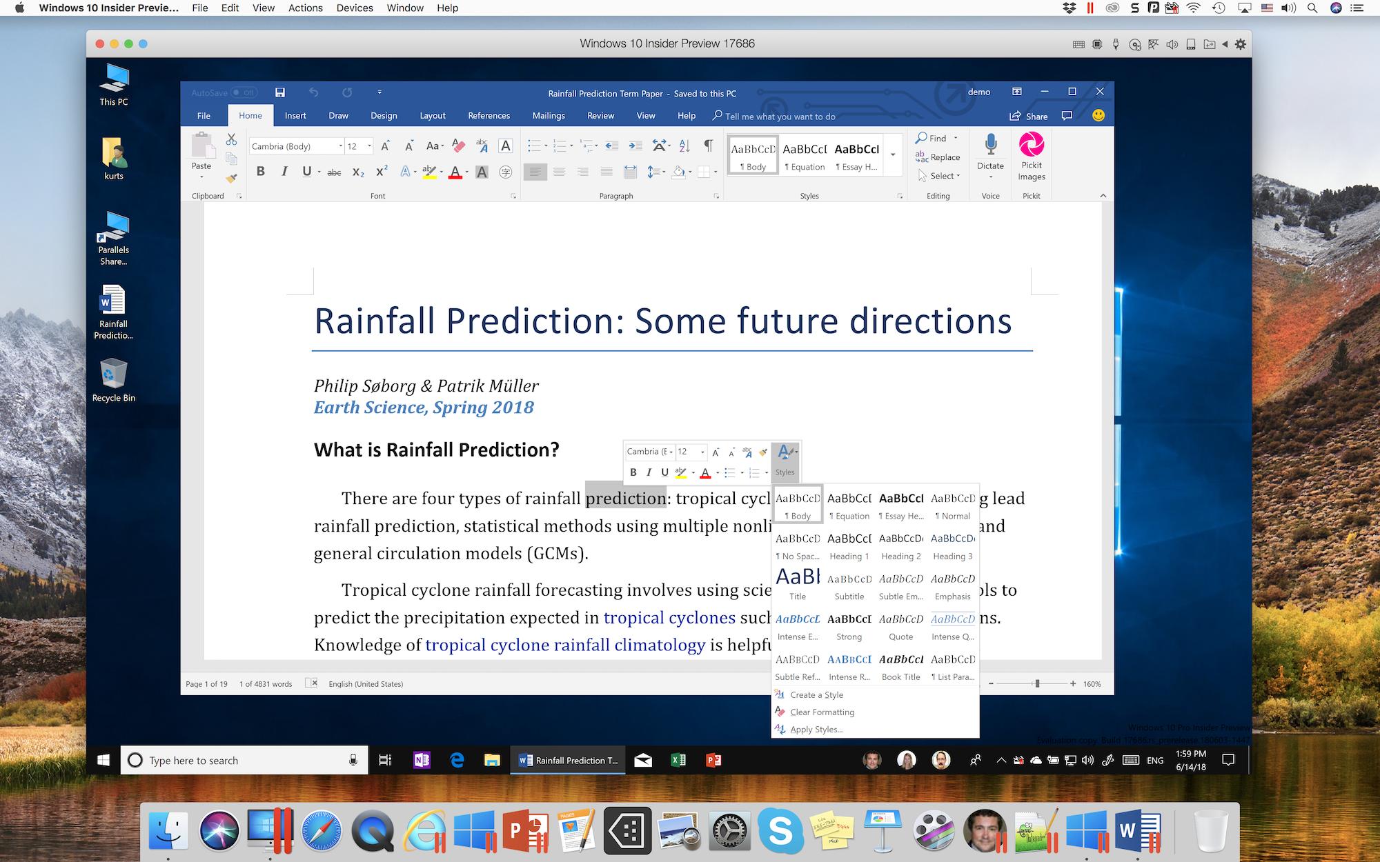 How to downgrade Parallels Desktop?