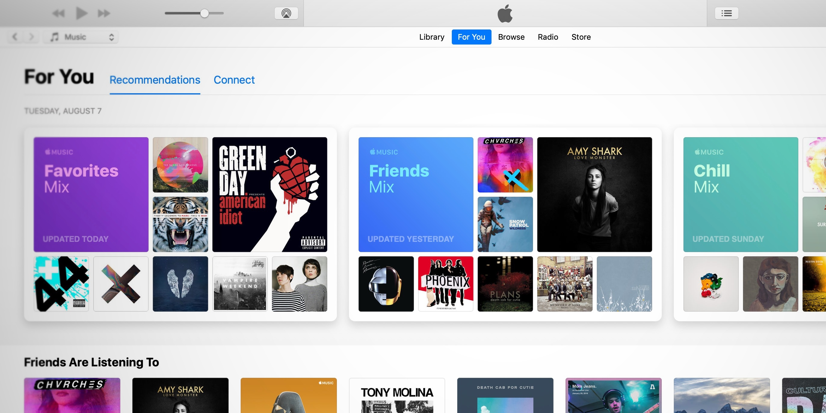 Apple Music launches new weekly 'Friends Mix' in For You