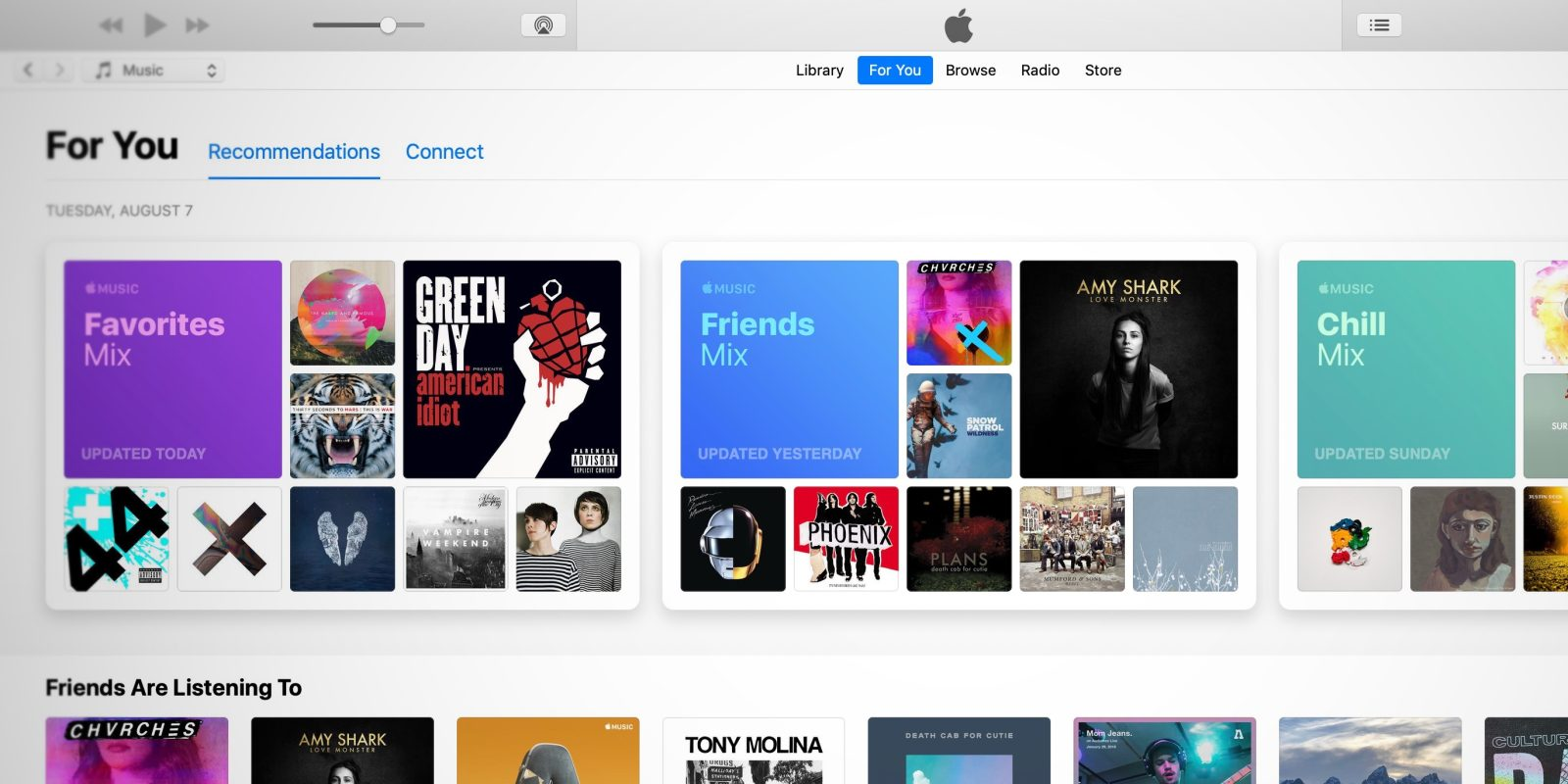 Cant see friends on apple music