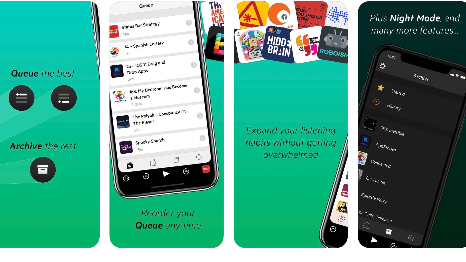 castro podcasts updated with sideloading support chapter pre selection feature