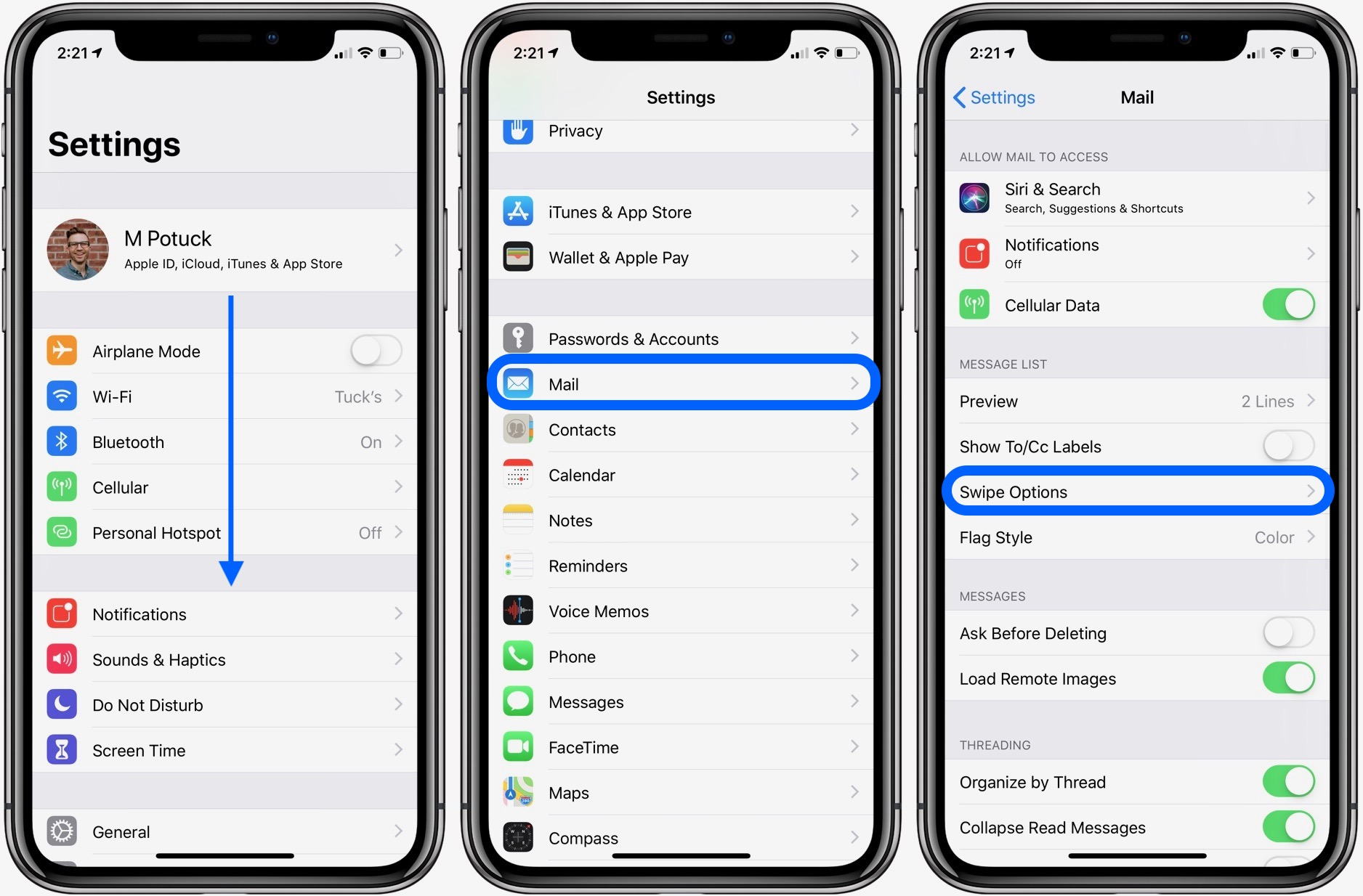 iphone custom gestures iphone amp how to customize swipe gestures in mail 2038