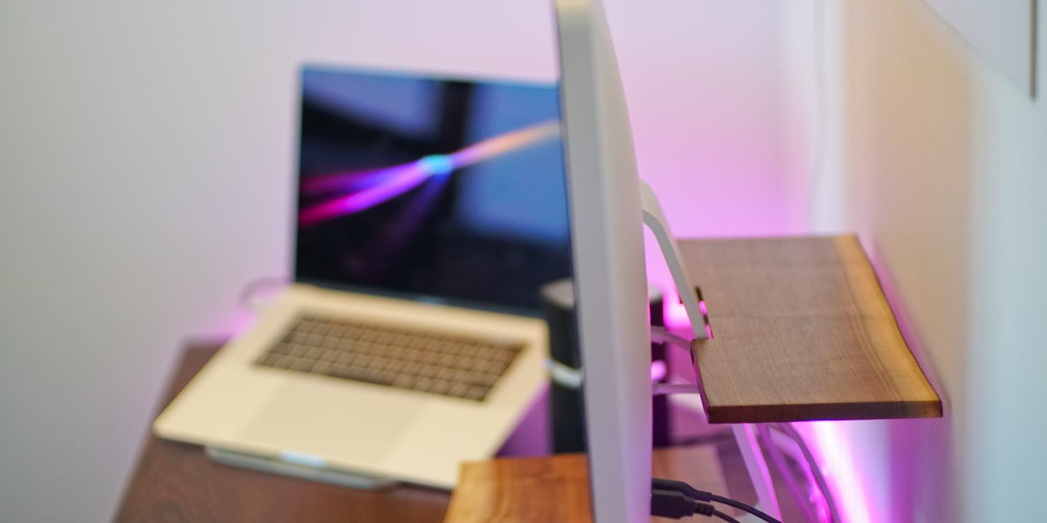 review understands butler a neat wooden shelf for an imac or apple monitor