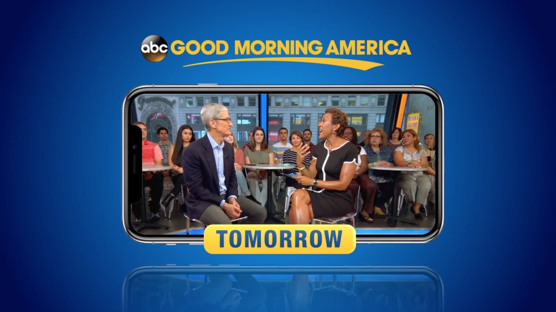 tim cook to appear on good morning america tomorrow morning to talk iphone xs more