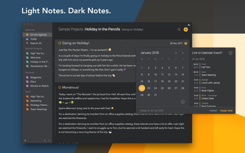 Agenda dark mode