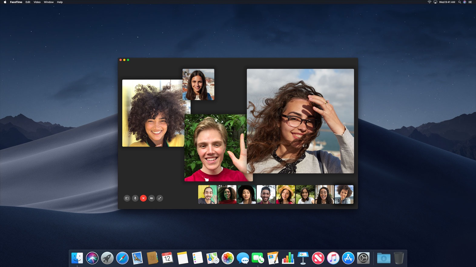 Group FaceTime macOS Mojave