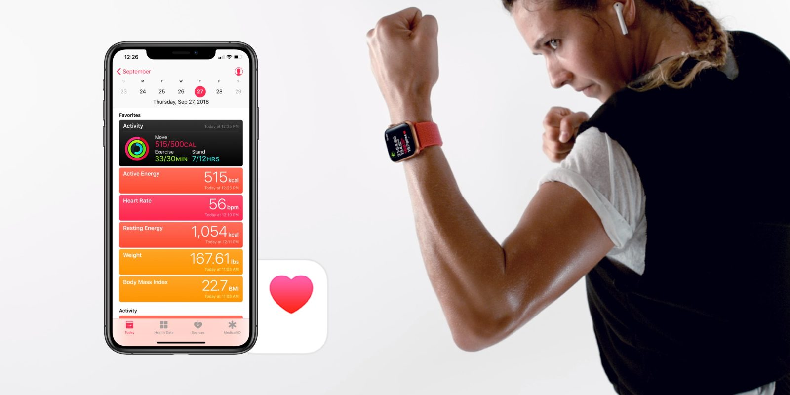 "Working out with Apple Watch"" These smart scales sync weight with iPhone"
