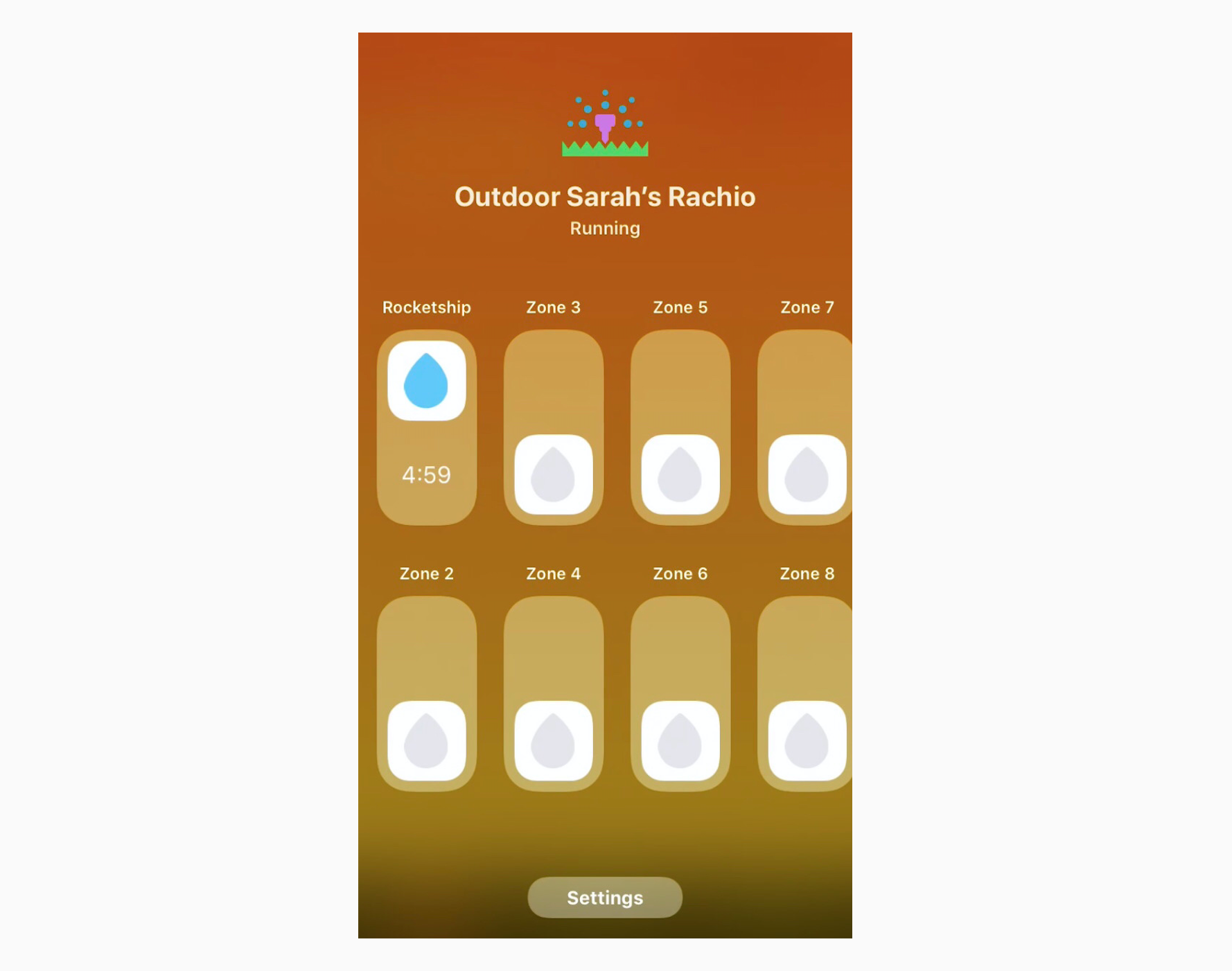 HomeKit sprinkler