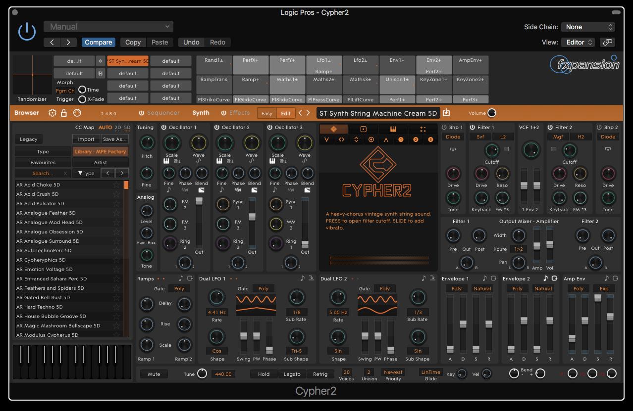 168234af Logic Pros Review: Cypher2 has stellar sound design tools & 500+ MPE ...