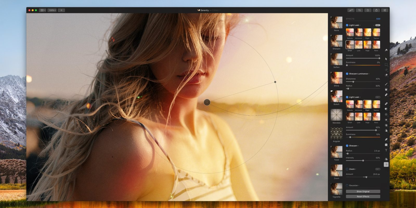 Pixelmator Pro update adds light leak, bokeh and more new effects, on sale for $29.99
