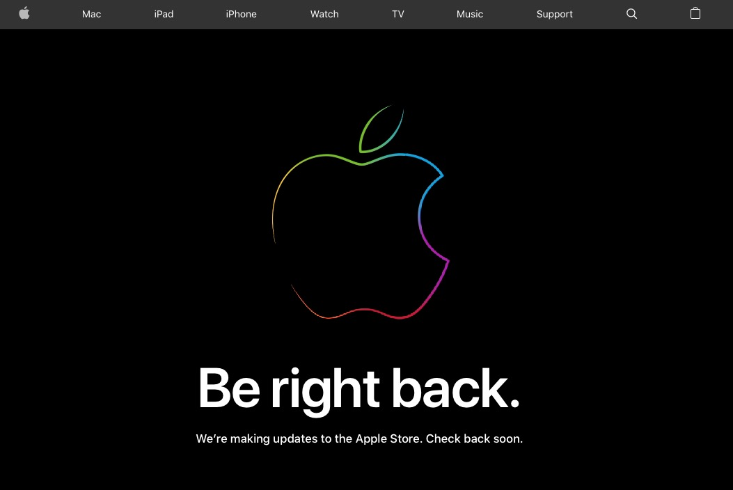 apple store goes down ahead of iphone xs and apple watch series 4 event