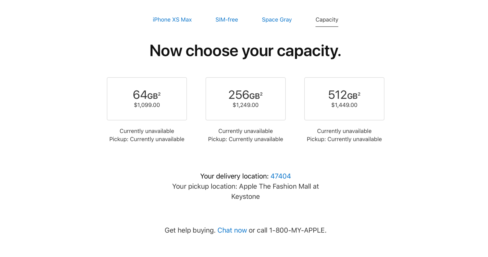 iPhone XS costs $1,349 for 512GB of storage, iPhone XS Max