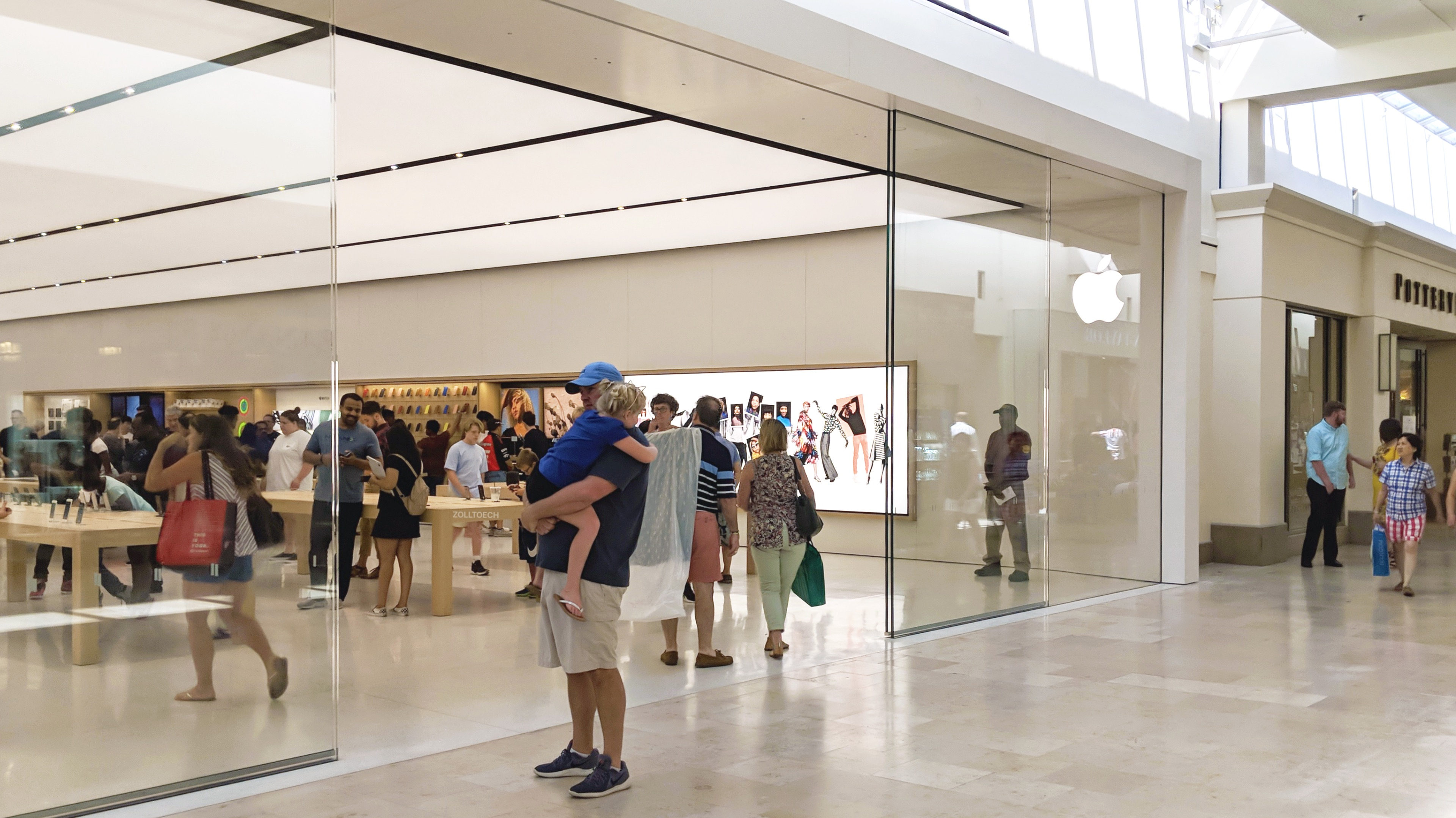 Redesigned Apple store in Charlotte's SouthPark Mall now open