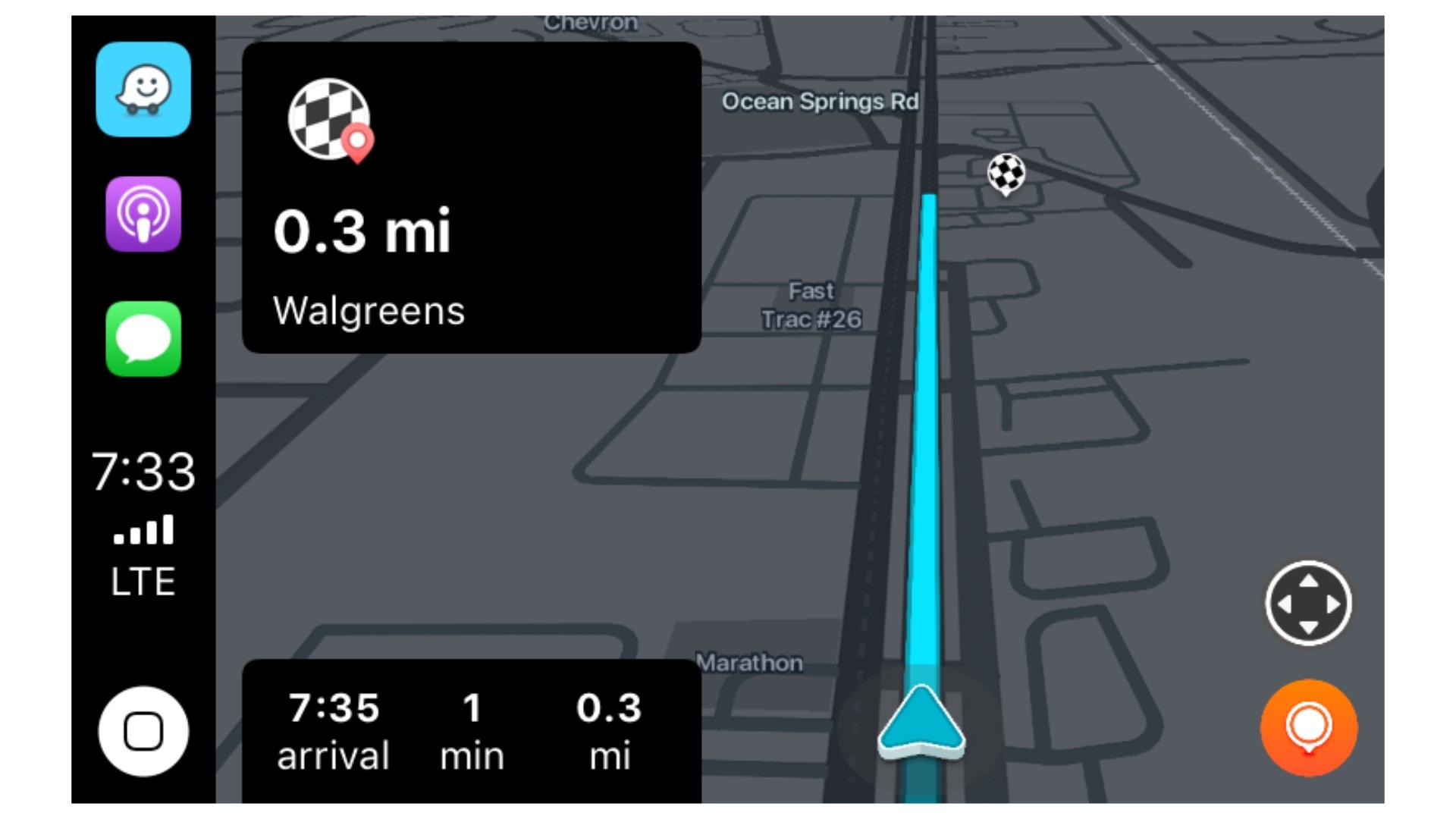 waze navigation now works with carplay
