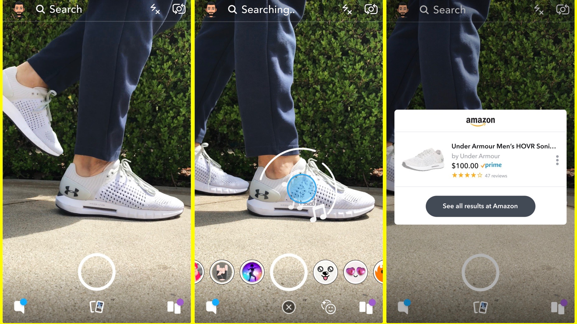 snapchat partners with amazon for new visual search shopping feature