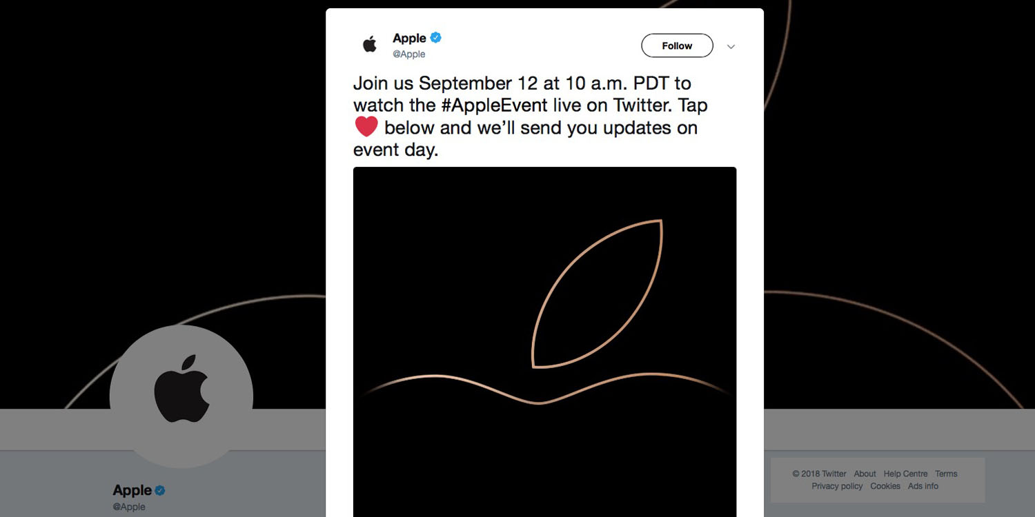 tomorrow s iphone xs event may be first to be streamed on twitter
