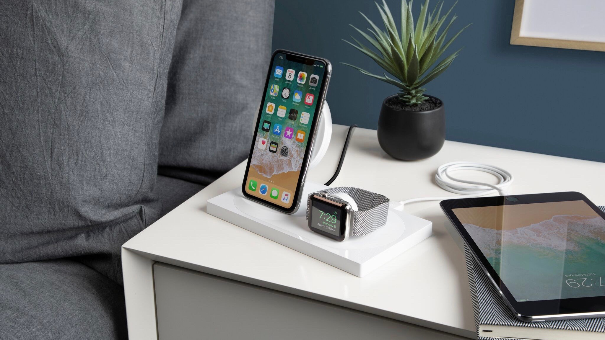 belkin unveils boost up wireless charging dock for iphone apple watch with clean design