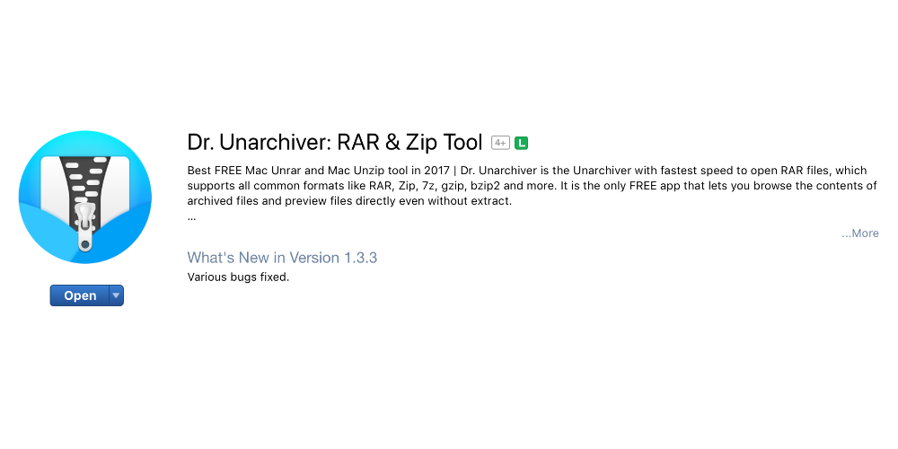 unarchiver pour mac