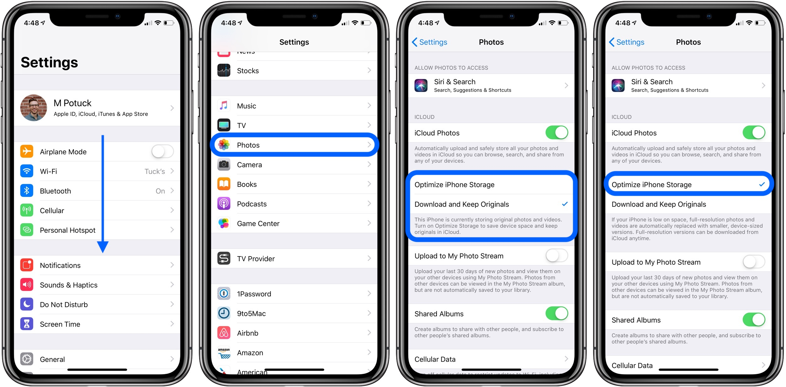 Iphone Ipad How To Free Up Space With Icloud Photos Optimized
