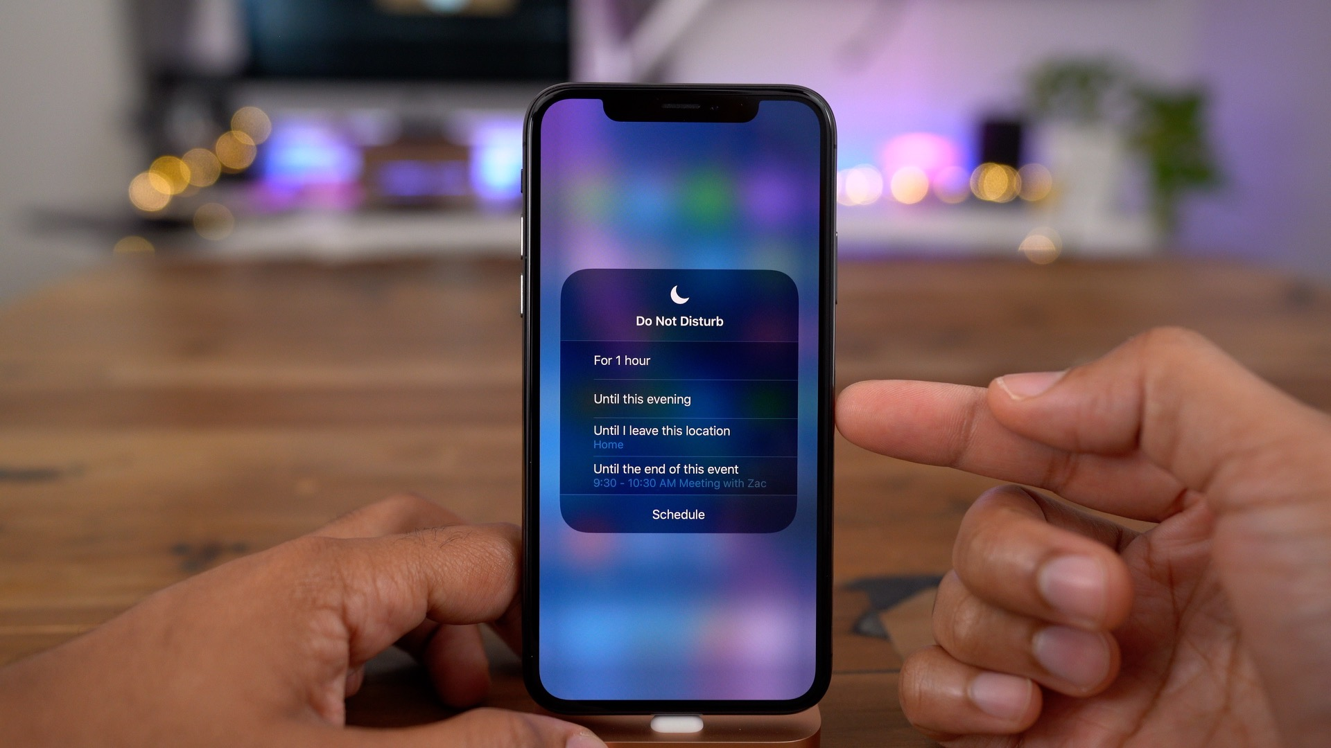 how to customize do not disturb in ios 12
