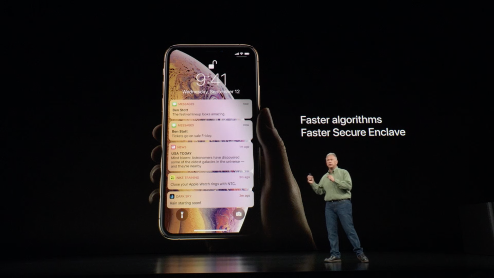 Iphone Xs Iphone Xs Max Feature Faster Face Id Performance Apple