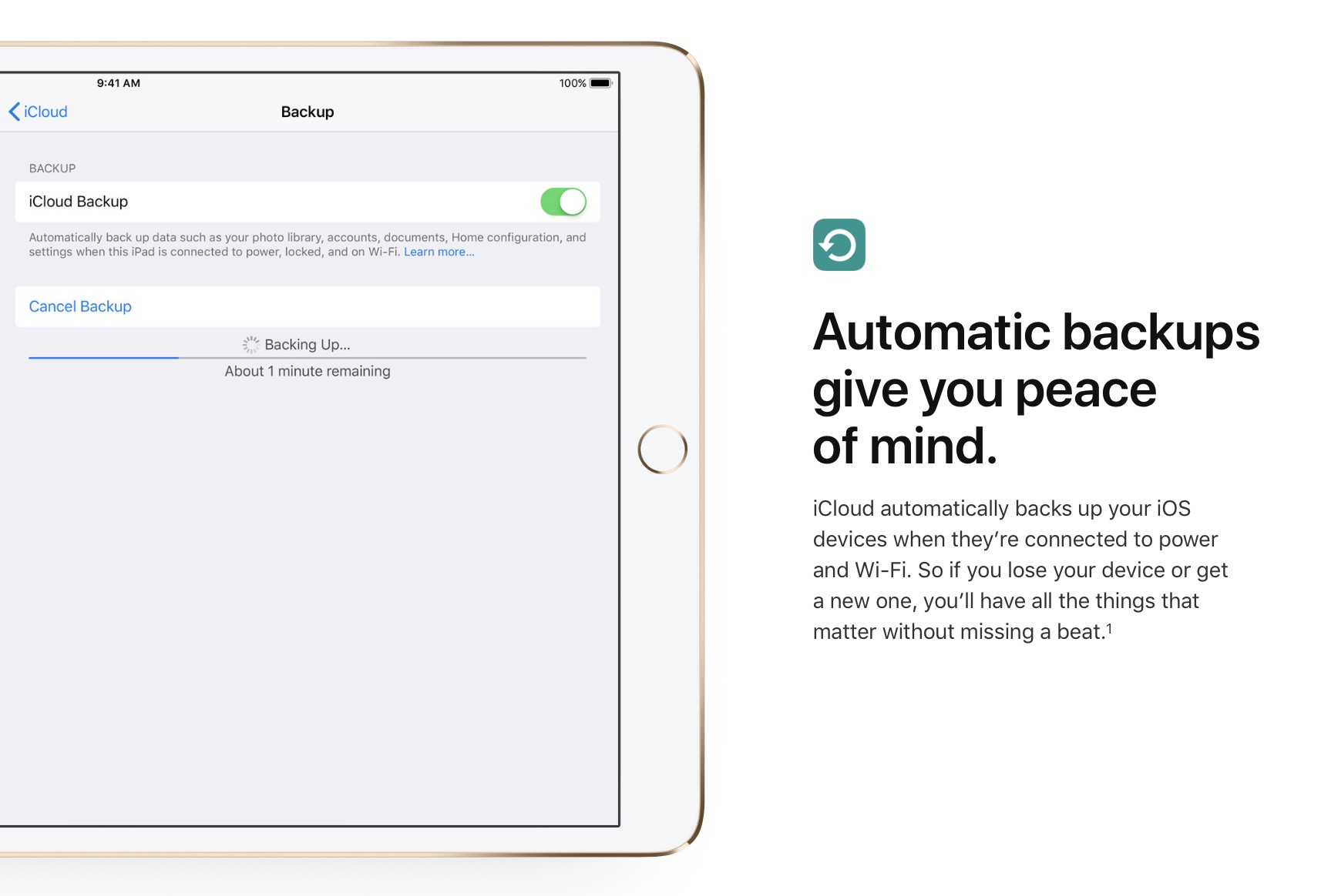 how to download icloud backup to a new ipad device