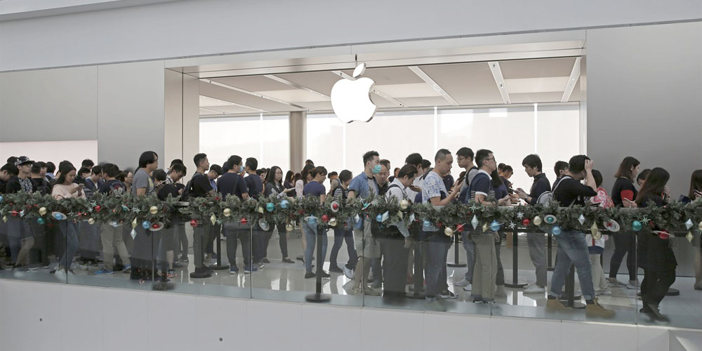 Deliveroo can keep you fed while you're waiting in line at the Apple Store – but not in the US
