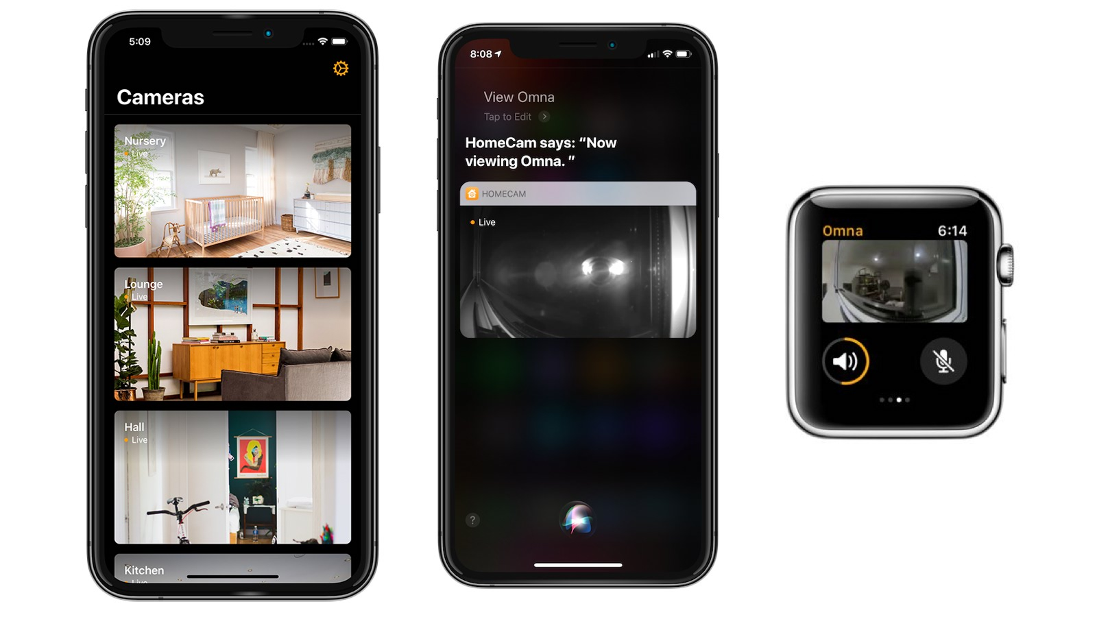 homecam app for homekit cameras adds support for siri shortcuts apple watch app more