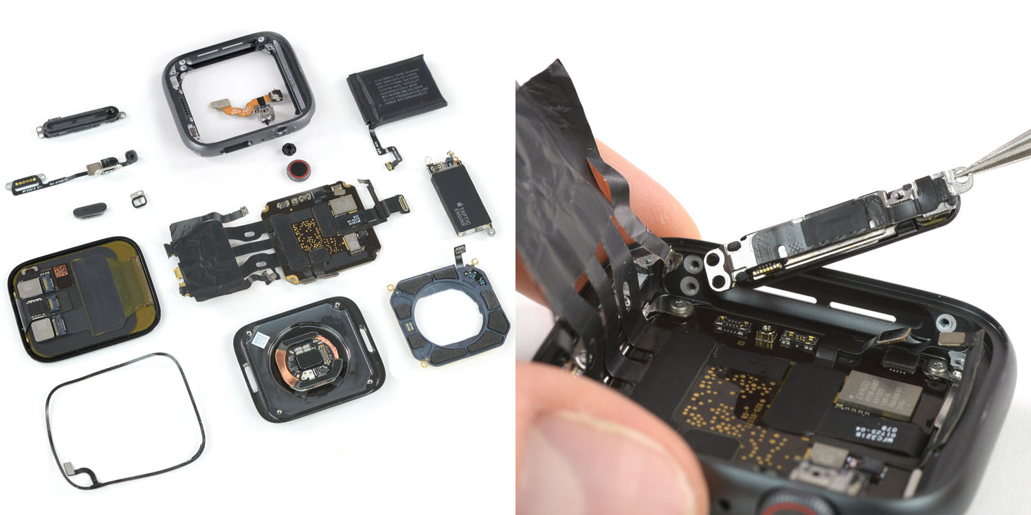 apple watch series 4 teardown major design leap iphone level repairability more battery