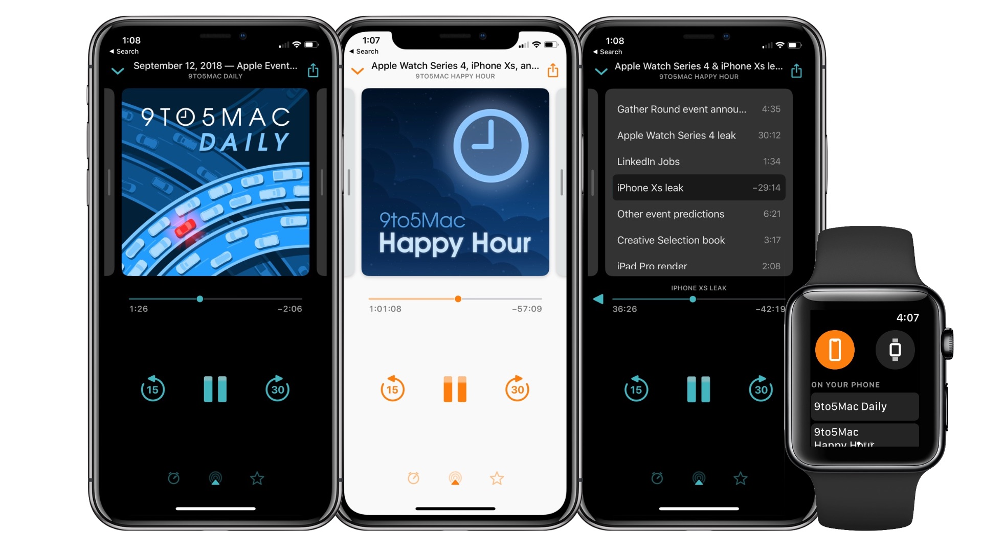 overcast 5 brings apple watch playback new now playing design siri shortcuts more