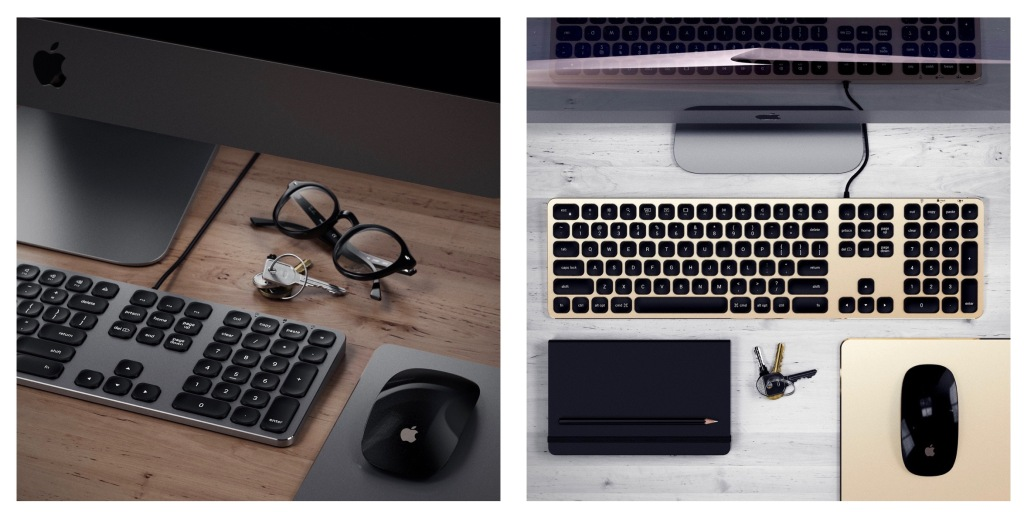 satechi unveils new wired wireless extended keyboards in apple friendly colors 9to5mac. Black Bedroom Furniture Sets. Home Design Ideas