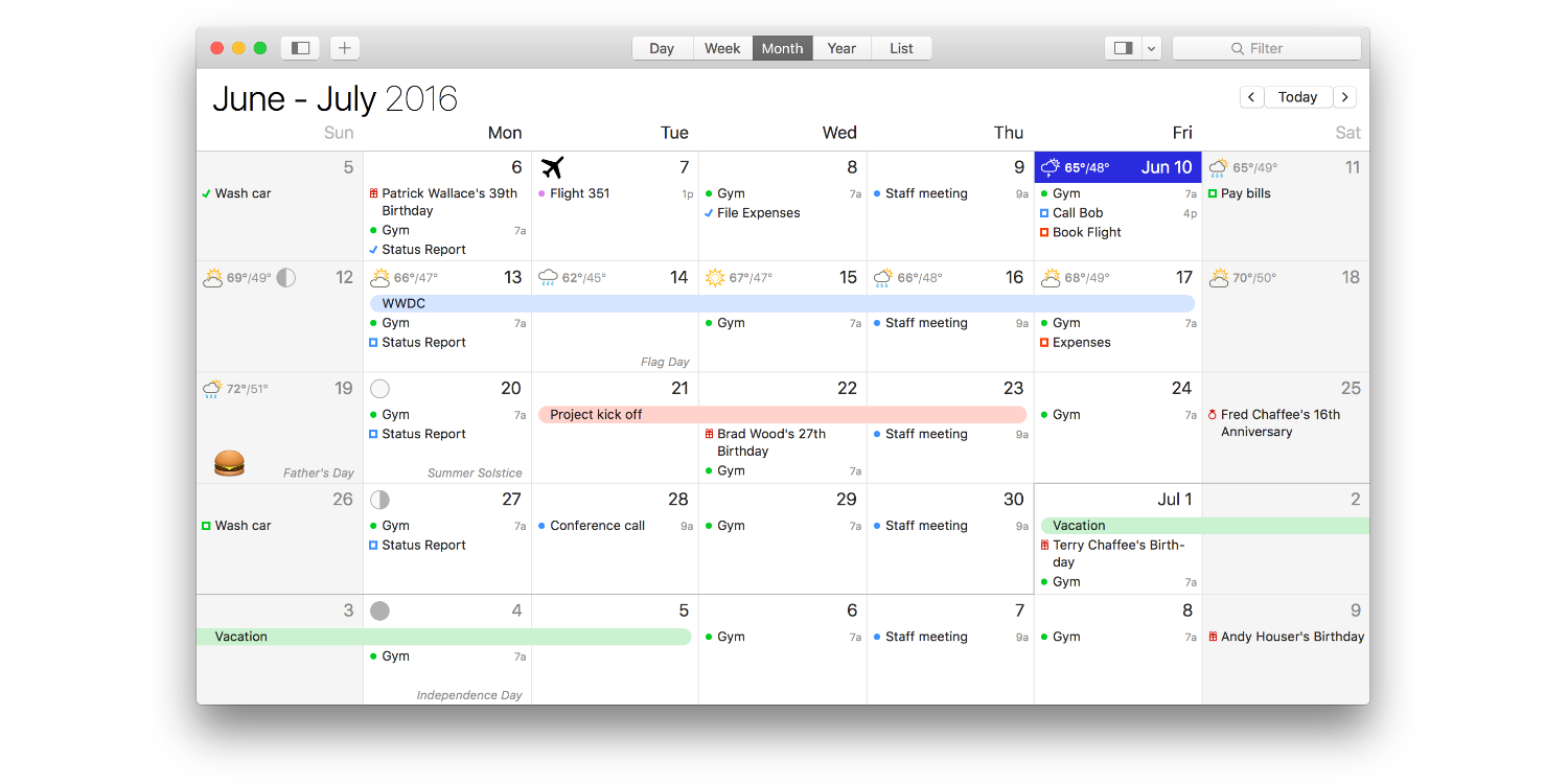 best calendar app for the Mac