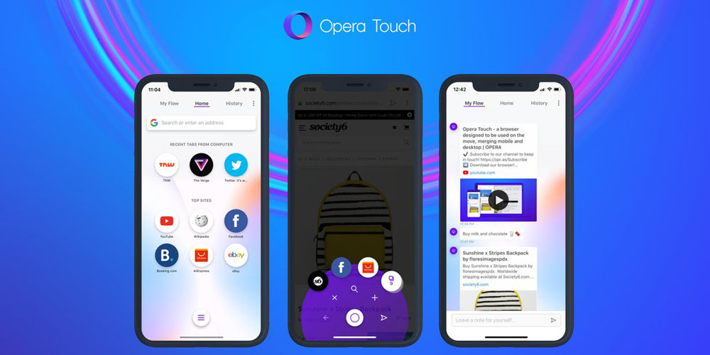 best value 429b8 b979a Opera Touch claims to be the perfect browser for iPhone X/XS owners ...