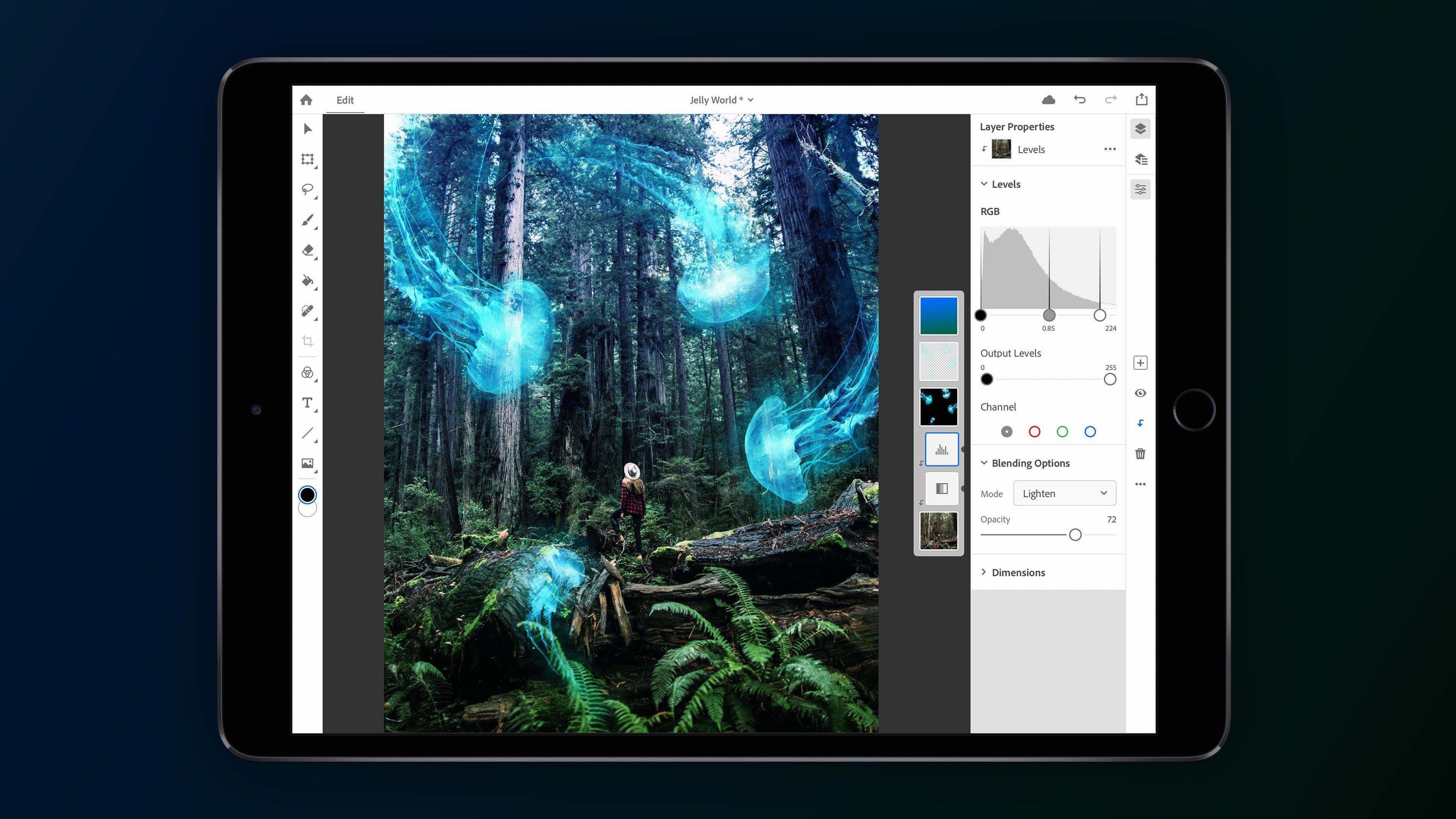 adobe announces full photoshop cc for ipad shipping 2019 syncs with desktop